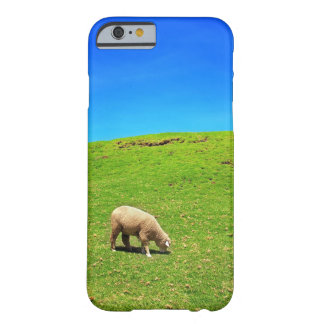 A Sheep on Green Pasture under a Deep Blue Sky Barely There iPhone 6 Case