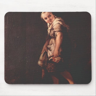 A Shepherd girl with a basket by Pietro Longhi Mouse Pads