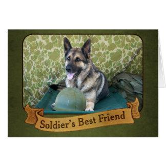 A Shepherd is a Soldier's Best Friend Card