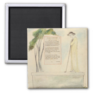 A Shepherd Reading the Epitaph, from Elegy Written 2 Inch Square Magnet