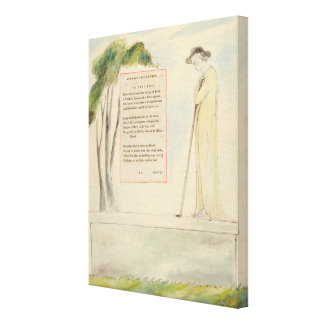 A Shepherd Reading the Epitaph, from Elegy Written Canvas Print