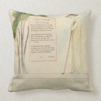 A Shepherd Reading the Epitaph, from Elegy Written Throw Pillow
