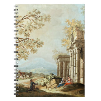 A Shepherd with Goats and other Figures amongst Cl Notebook