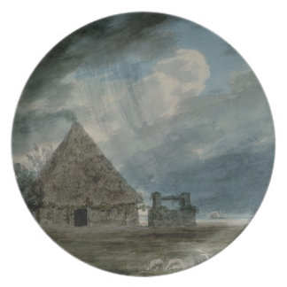 A Shepherd's Hut between Naples and Portici (w/c) Party Plates