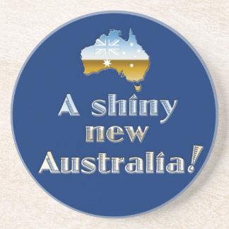 A Shiny New Australia Drink Coaster