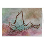 A Ship Goes Sailing By Notecard Greeting Cards