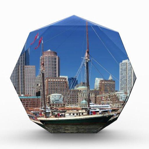 A Ship in Boston Harbor Acrylic Award