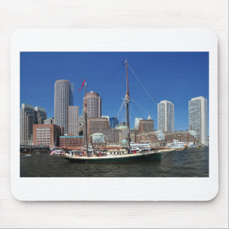 A Ship in Boston Harbor Mouse Pad