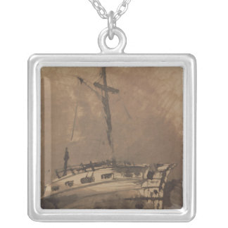 A Ship in Choppy Seas, 1864 Personalized Necklace
