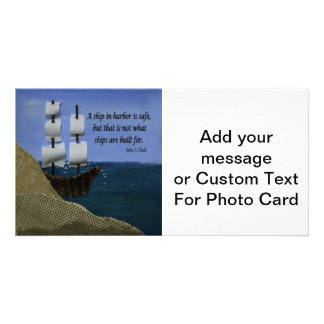 A Ship in Harbor is Safe Inspirational Quotation Card