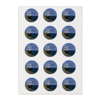 A Ship in Harbor is Safe Inspirational Quotation Edible Frosting Rounds