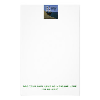 A Ship in Harbor is Safe Inspirational Quotation Stationery Paper