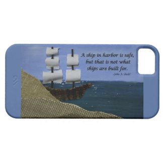 A Ship in Harbor is Safe Inspirational Quote iPhone 5 Cover