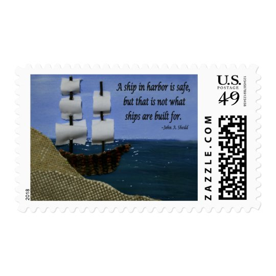 A Ship in Harbor Postage