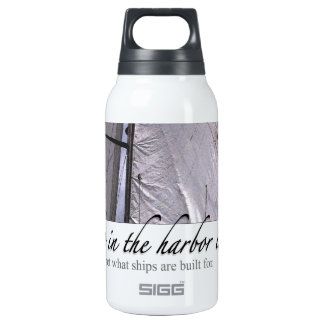 A Ship in the Harbor Thermos Bottle