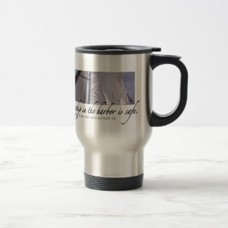 A Ship in the Harbor Travel Mug