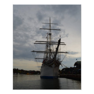 A Ship in the Inner Harbor Poster