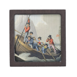 A Ship's Boat Attacking a Whale, engraved by Matth Gift Box