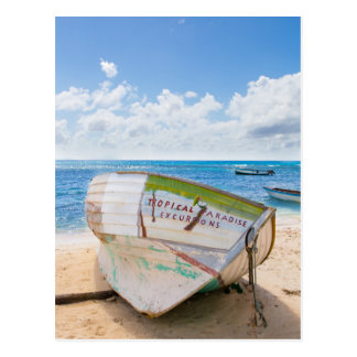 A shipwreck on the beach in the Caribbean Postcard