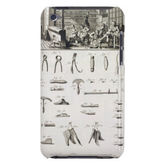 A shoe and bootmaker and their tools, from the 'En iPod Touch Cover