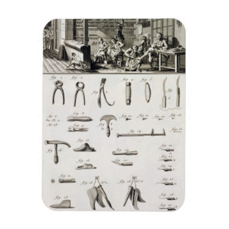 A shoe and bootmaker and their tools, from the 'En Rectangular Photo Magnet