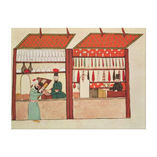 A Shop Selling Different Merchandise Canvas Print