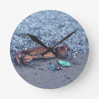 A Shore Crab Round Clock