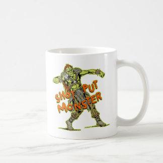 a shot put monster coffee mug