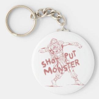 a shot put monster keychain