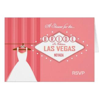A Shower for the Bride Las Vegas RSVP Card