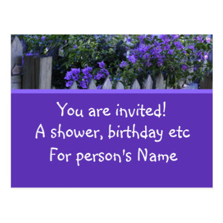 a shower or birthday postcard