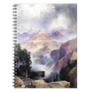 A Showery Day, Grand Canyon - Thomas Moran (1919) Spiral Notebook