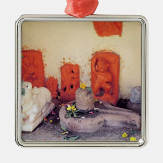 A shrine of a chapel on the Ganges Metal Ornament