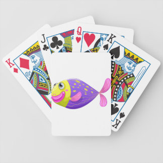 A shy fish bicycle playing cards