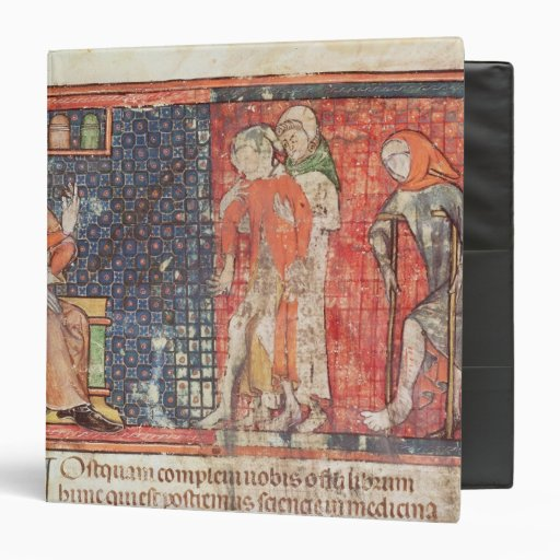 A sick man and a crippled man presented to binder