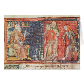 A sick man and a crippled man presented to card