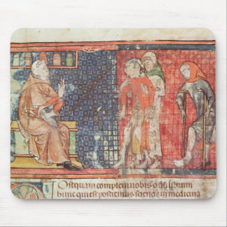 A sick man and a crippled man presented to mouse pad
