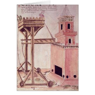 A siege machine card