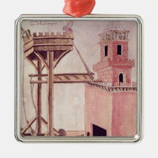 A siege machine metal ornament