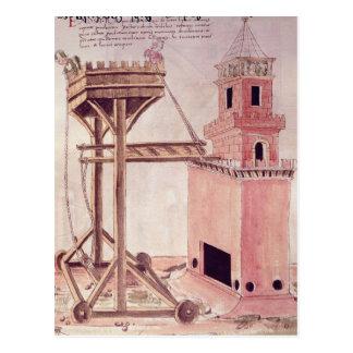 A siege machine postcard