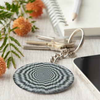 A Sight for Sore Eyes in Monochrome Keychain