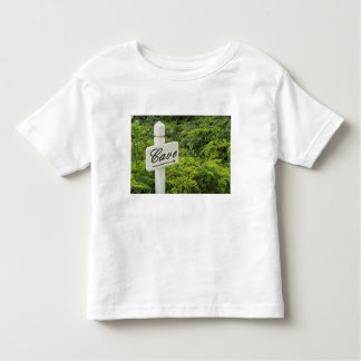 A sign pointing tho the wine cellar (Cave) in Toddler T-shirt