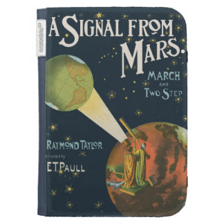 A Signal From Mars Kindle Folio Cases