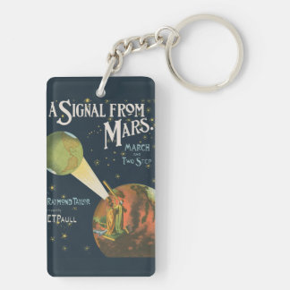A Signal From Mars Keychain