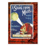 A Signal From Mars March Vintage Sheet Music Card