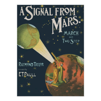 A Signal From Mars Poster