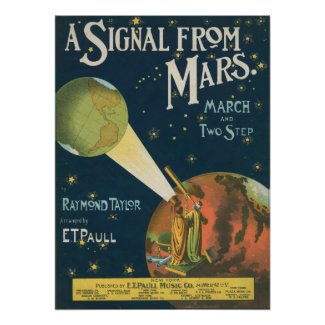 A Signal From Mars Print