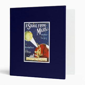 A Signal From Mars Vintage Song Sheet cover 3 Ring Binder