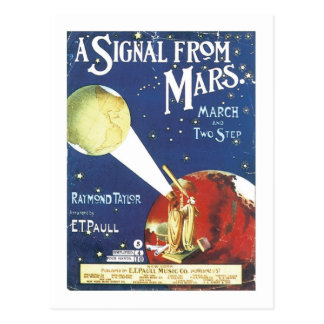 A Signal From Mars Vintage Songbook Cover Postcard