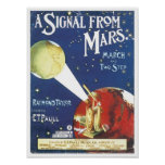 A Signal From Mars Vintage Songbook Cover Poster